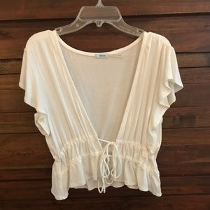 Urban Outfitters Double Tie Front Top